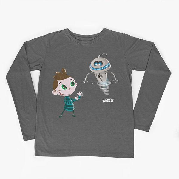 Слика на Детска блуза (Боби и роботчето Р1)